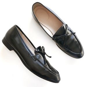 "J Crew | ""Academy"" Black Leather Loafers"